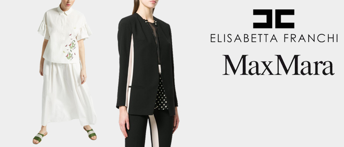 Max Mara e Elisabetta Franchi: abbigliamento e accessori donna