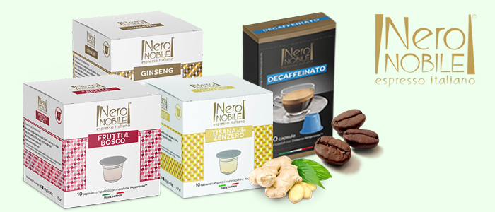NeroNobile Caffè e Tisane Compatibili Nespresso