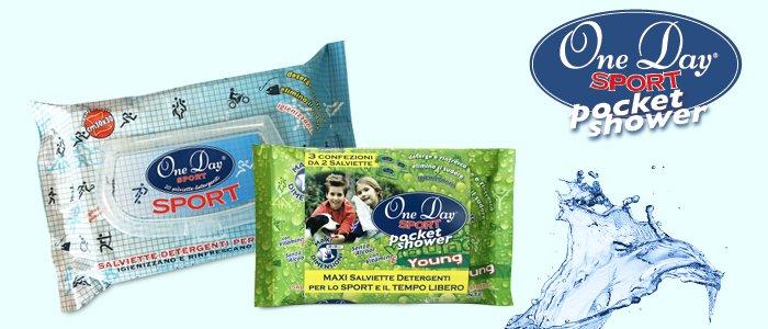 One Day Sport: salviette detergenti