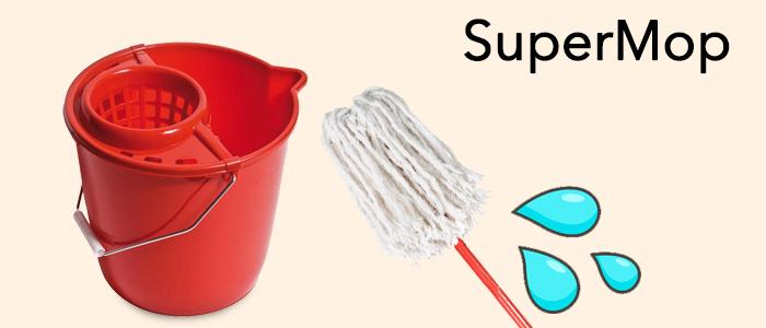 SuperMop: Secchio, Mocio e Bastone