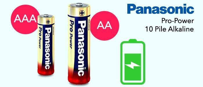 Panasonic Pro-Power: 10 Pile Alkanine AA e AAA