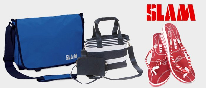 SLAM: infradito e accessori