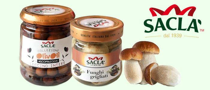 Saclà: verdure sottolio e condimenti