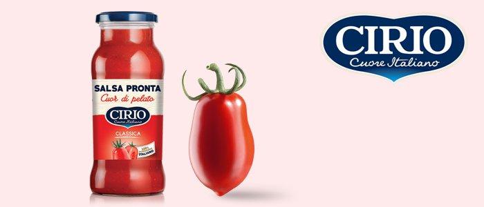 Cirio: salsa pronta cuor di pelato 12x350gr