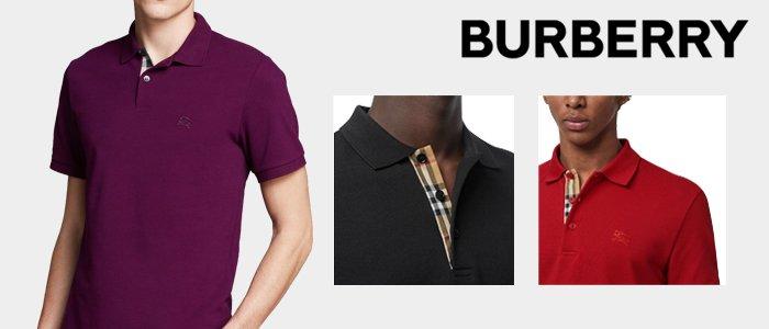 Burberry Uomo: Polo Piqué 100% Cotone