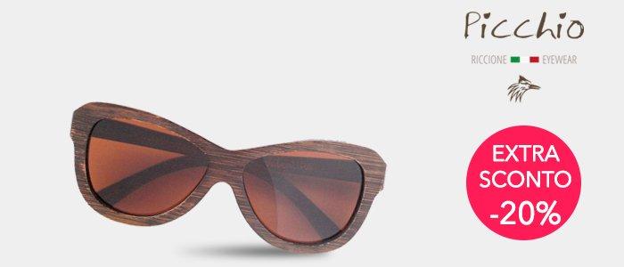 Promozione Picchio Occhiali da Sole in Legno