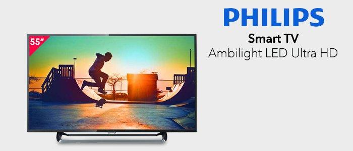 """Philips Smart TV LED Ultra Sottile 4K 55"""""""