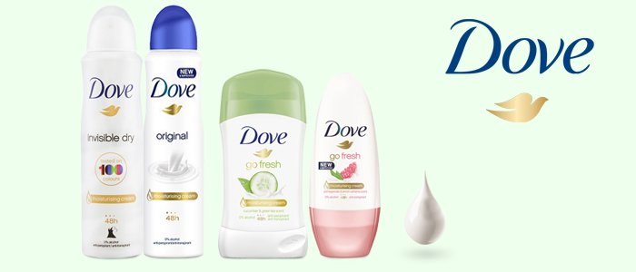 Dove Deodoranti: Spray, Stick e Roll-On