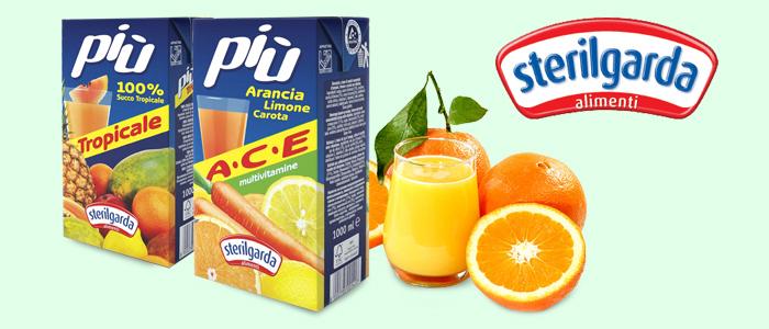 Sterilgarda Succhi Più 100% Tropical e Ace