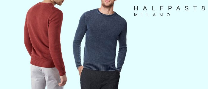 HALFPAST8 Maglie 100% cotone Uomo