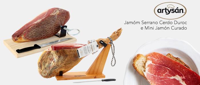 Artysán Kit Jamón Serrano Cerdo Duroc e Mini Jamón Curado