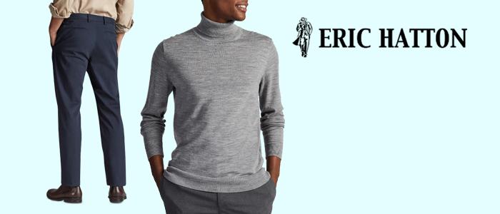 Eric Hatton Inverno 2019:20 Pantaloni e Maglieria uomo