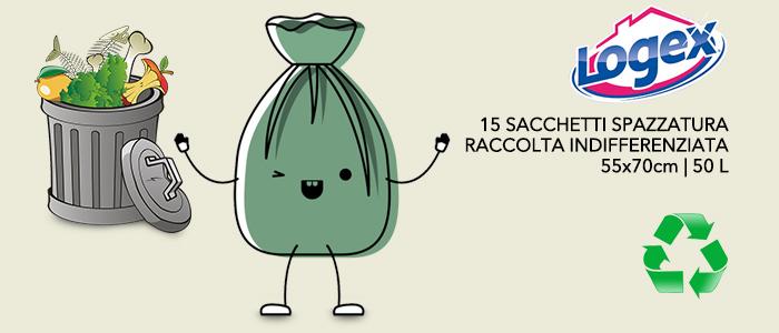Logex Sacchetti Spazzatura 55x70cm - 50 litri