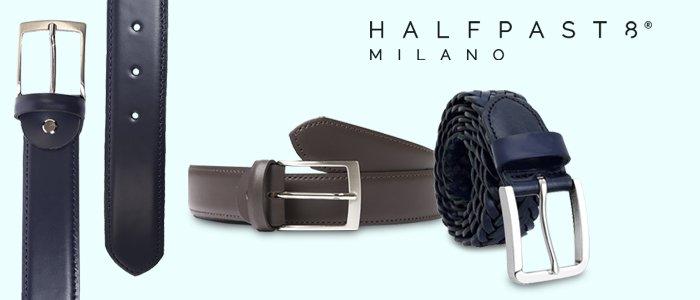 HALFPAST8 Cinture Uomo Vera Pelle