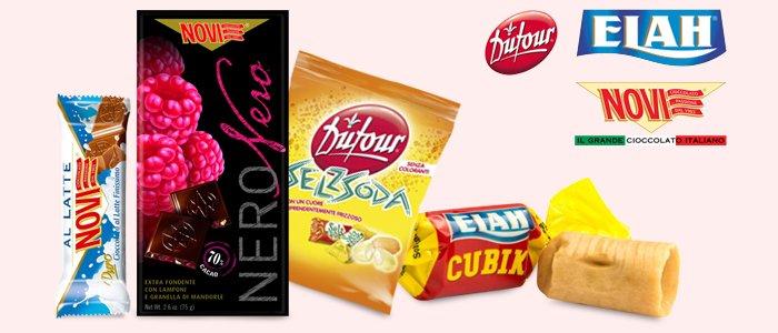 Novi cioccolato e Dufour caramelle