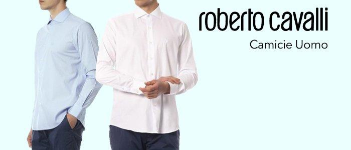 Roberto Cavalli Camicie Uomo 100% cotone