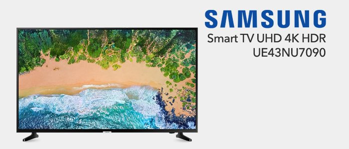 Samsung Smart TV UHD 4K UE43NU7090
