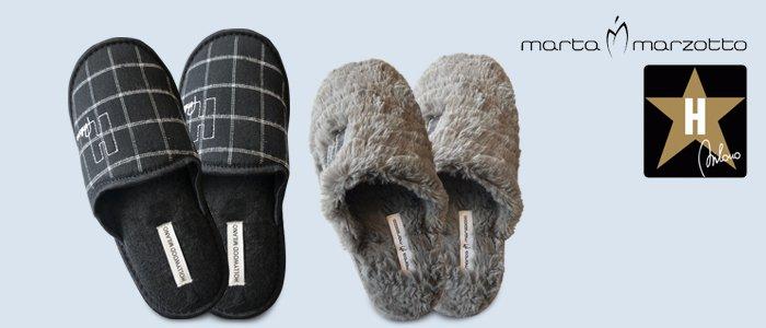 Pantofole Hollywood Milano e Marta Marzotto