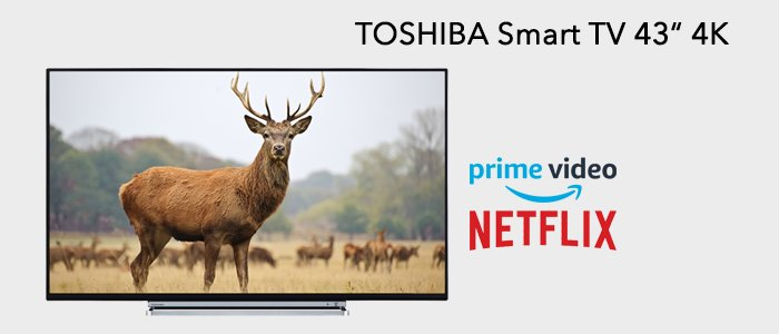 """Toshiba Smart TV Ultra HD 43"""" 4K 43V6763DA"""