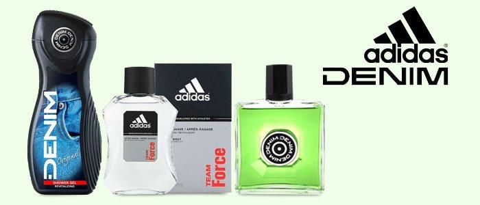 Adidas e Denim: After Shave, Shower Gel e Deo Spray