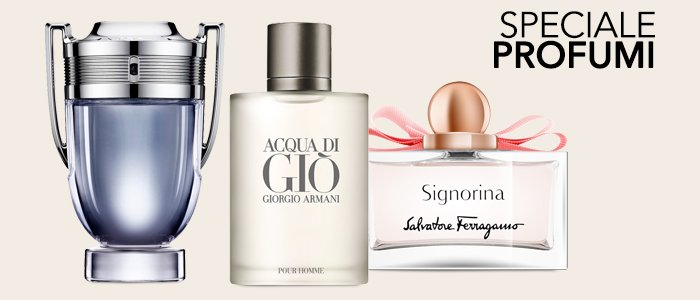 Speciale Profumi Top Brand: CK, Burberry, Paco Rabanne, Ferragamo