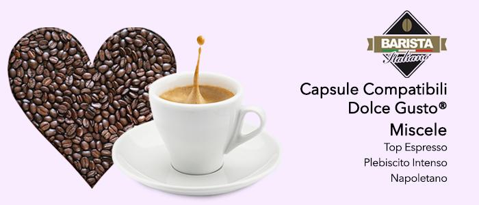 Barista italiano: capsule compatibili Dolce Gusto
