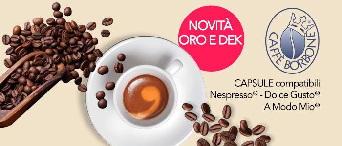 Caffé Borbone Capsule Compatibili Nespresso, A Modo Mio e Dolce Gusto