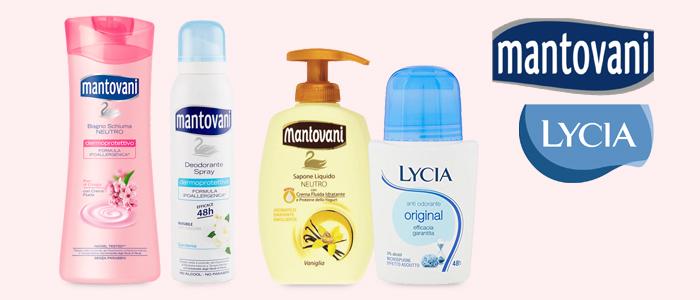 Lycia e Mantovani: Deodoranti, Saponi e Bagnoschiuma