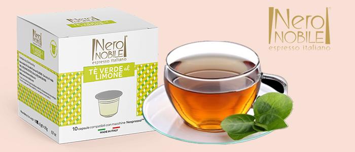 PROMO 2x1: Nero Nobile Capsule Compatibili Nespresso Tè Verde al Limone