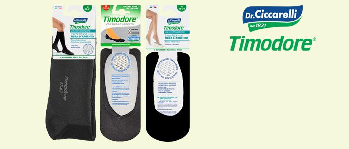 TIMODORE® Linea Deodorazione: Calze con Fibra d'Argento