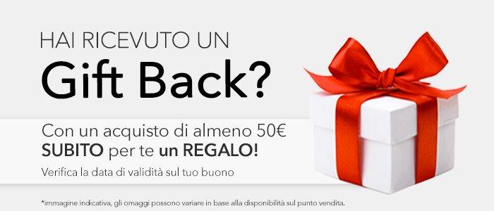 Buono Gift Back: ritira il tuo regalo