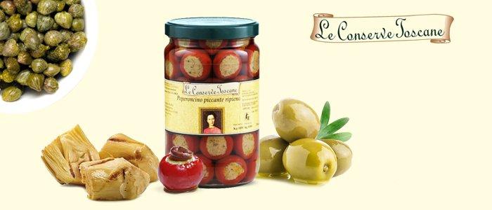 Conserve Toscane: verdure, antipasti, contorni, sughi