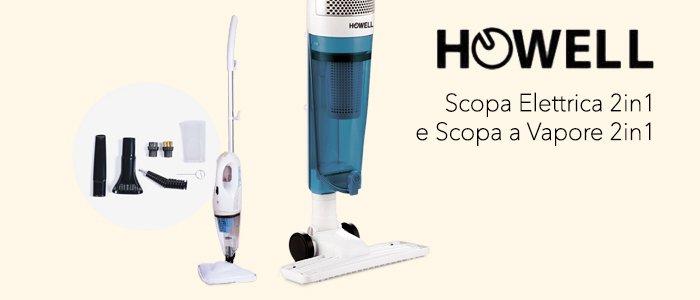 Howell: Scopa Elettrica e Scopa a Vapore 2in1