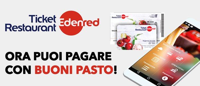 Ora puoi pagare la tua spesa con i buoni pasto EdenRed