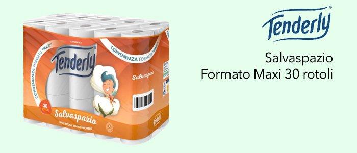 Tenderly: Carta Igienica Formato Maxi 30 Rotoli