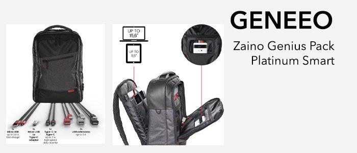 Geneeo Zaino Genius Pack Platinum Smart