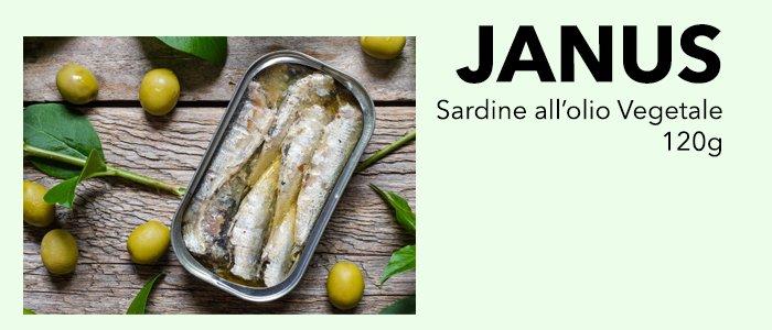 Janus by Asdomar: Sardine all'Olio Vegetale 120g