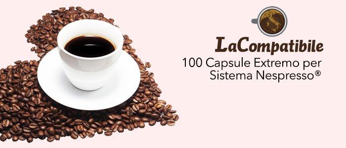 PROMO: La Compatibile 100 Capsule Extremo compatibili Nespresso