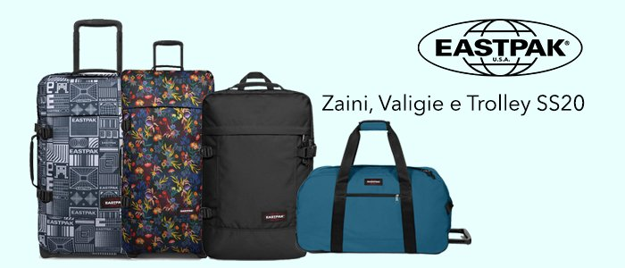 Eastpak Travel: Zaini, Valigie e Trolley SS20