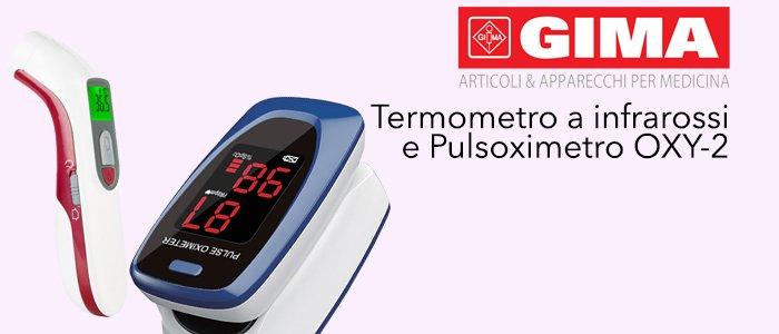 GIMA Termometro a infrarossi e Pulsoximetro