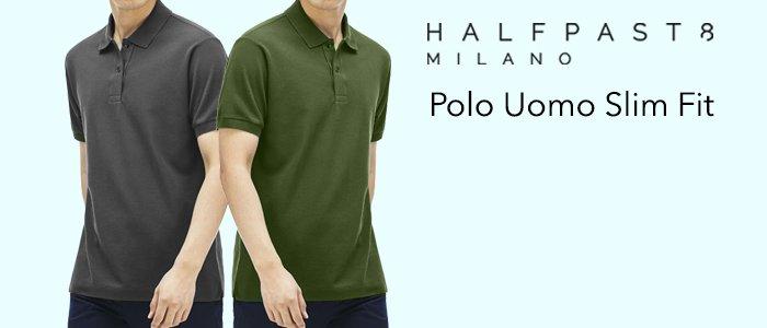 HALFPAST8 Polo Uomo Slim Fit