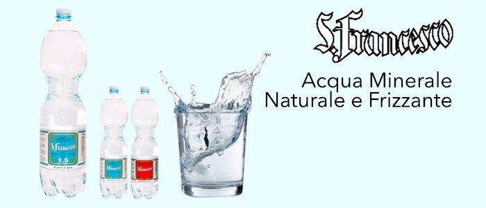San Francesco: Acqua Minerale Naturale e Frizzante