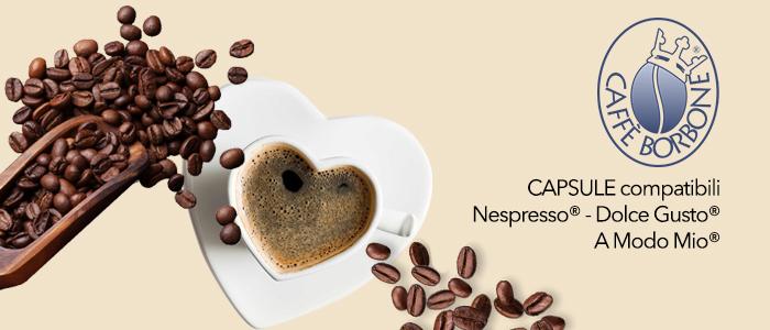 Caffè Borbone Capsule Compatibili: Nespresso, Dolce Gusto, A Modo Mio