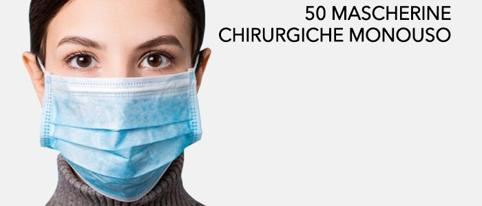 50 Mascherine chirurgiche 3 strati