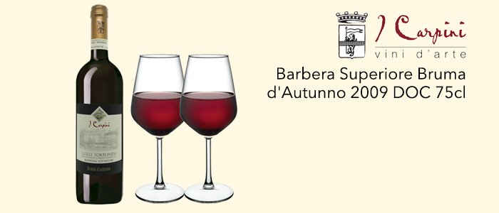 I Carpini: Barbera Superiore DOC Bruma d'Autunno 2009
