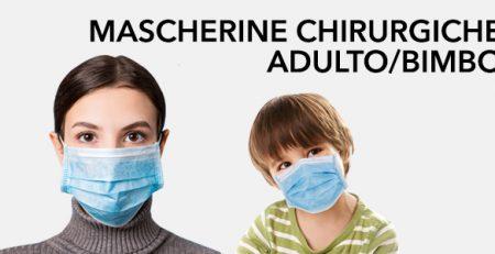 Mascherine Chirurgiche: Pack Adulto e Bimbo