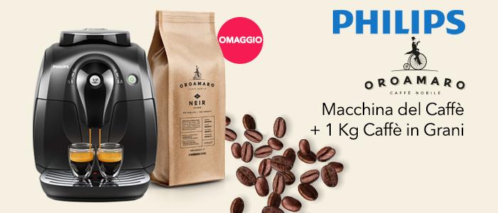 PROMO: Philips Macchina Caffè + 1kg Caffè Oroamaro