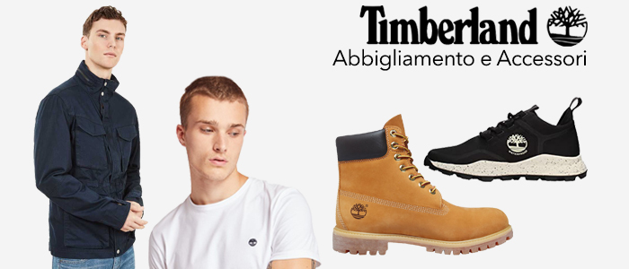 Timberland: felpe, magliette e scarpe