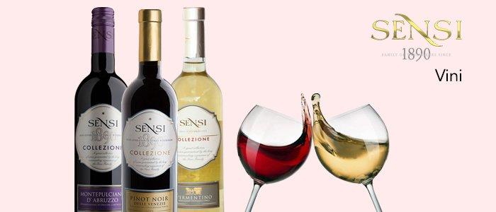 Vini Sensi: Pinot, Vermentino, Nero d'Avola, Montepulciano e Primitivo