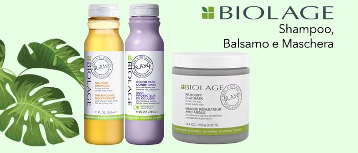 Biolage: Shampoo, Balsamo e Maschera